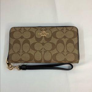 NWT Coach long zip around wallet